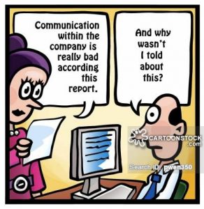 'Communication within the company is really bad according to this report.'